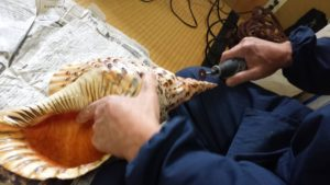 法螺貝製作実習2